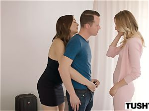 TUSHY damsel chief and Intern Gape For A giant meatpipe