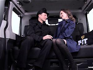 penetrated IN TRAFFIC - stellar Czech stunner plumbs in the car
