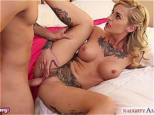 nasty Kleio Valentien in undergarments playing with stiff rod