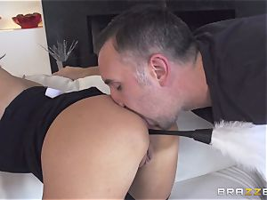 Maid Anissa Kate getting her succulent bum smashed by a enormous boner