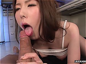 Yui Hatano gets penetrated at the office