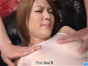 Subtitles - asian cutie Rei gets cock in her uber-cute