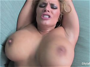 hardcore point of view nail and gulp with Shyla Stylez