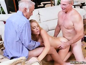elderly grannie munching nubile and bi studs hard-core Frannkie And The group Tag team A Door To Door