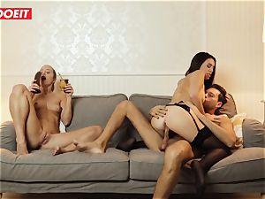 LETSDOEIT - insane wife Gets pummeled gonzo By Swingers