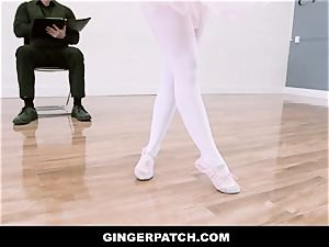 GingerPatch - red-haired Ballerina railing Judges fat trunk