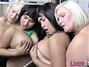 granny massages asians poon
