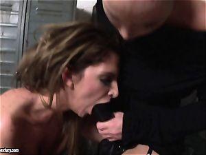 Kathia Nobili lets a super-fucking-hot damsel deepthroat her rope on