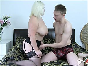 AgedLovE huge-chested Mature Lacey Starr gonzo paramour