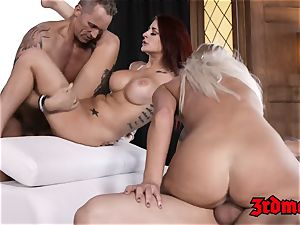 sugary honey Britney Amber fed jizm in hypnotizing hook-up