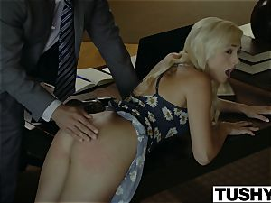 TUSHY.com wild blonde ass-fuck boned by her Therapist