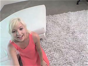 19yr senior platinum-blonde nympho NVG Calendar girl